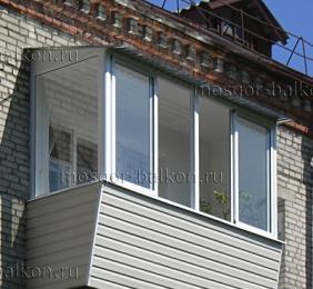 Остекление балконов в хрущевке цена оконный завод остекление балкона